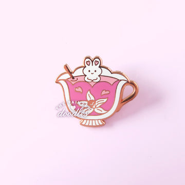 LEFT SIDE Tea Buns Collar Pin (Single Cup)