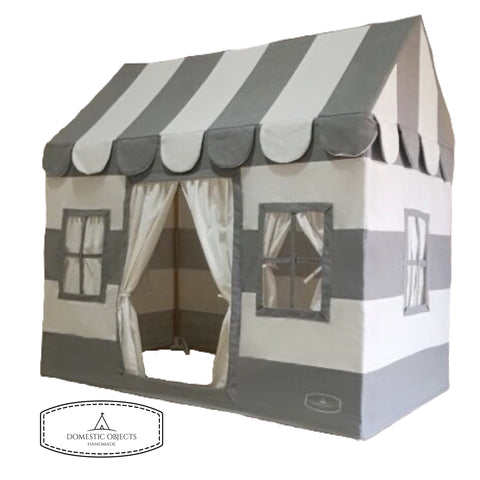 The Playhouse in Grey Stripe