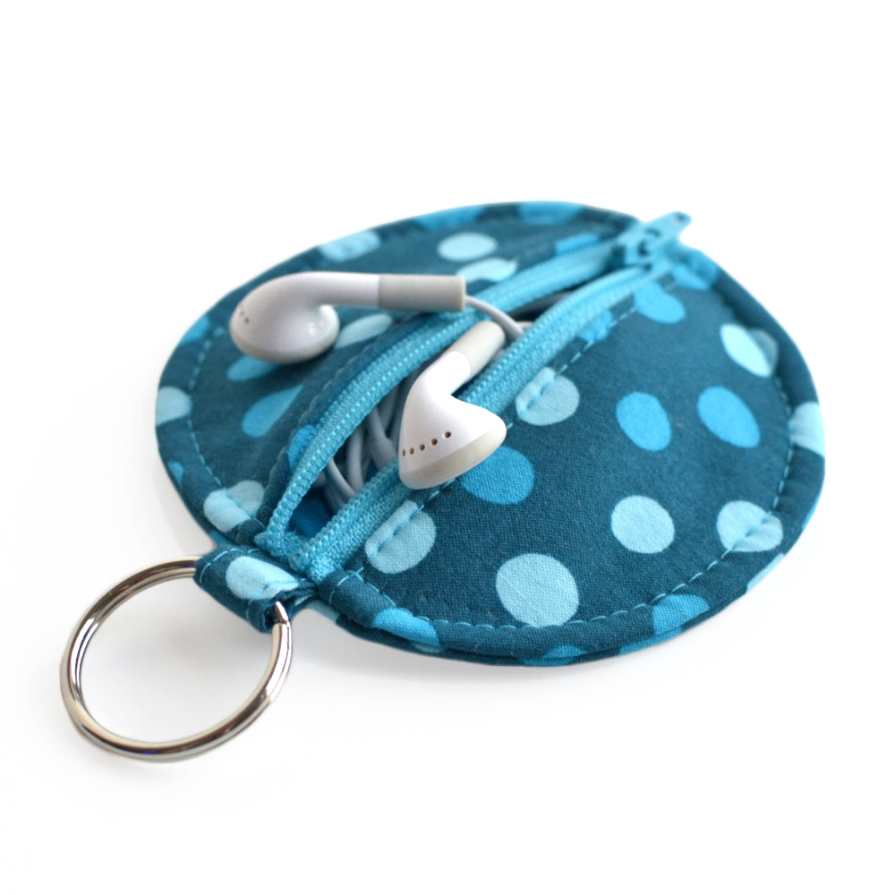 Circle Zip Earbud Pouch Sewing Pattern