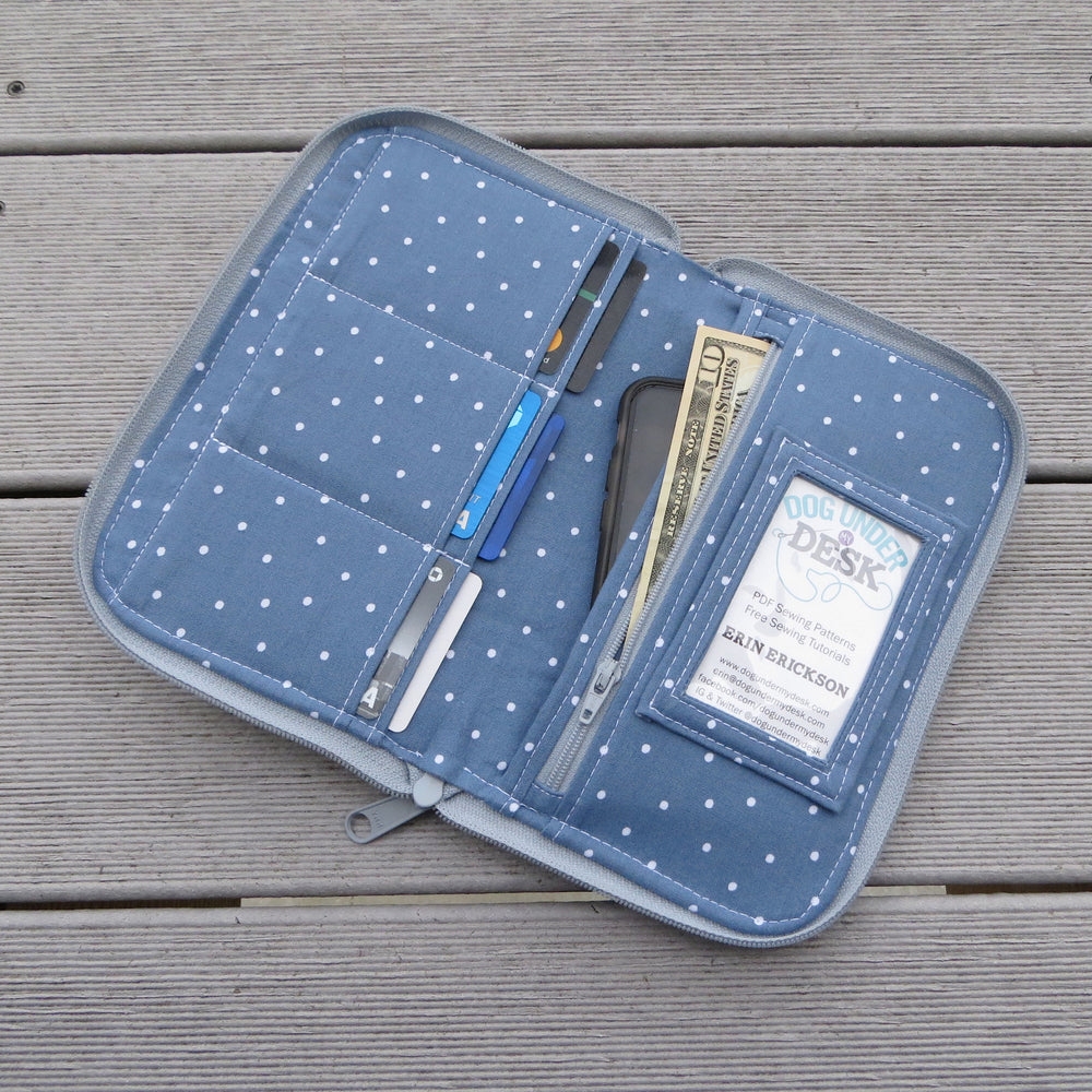 Zip Around Town Wallet Sewing Pattern