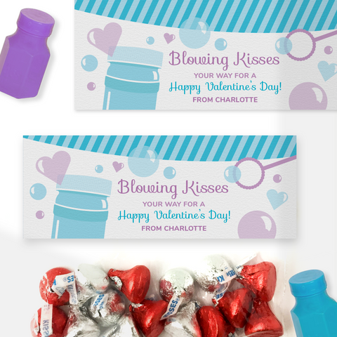 Blowing Kisses Valentine's Day Treat Bag Toppers