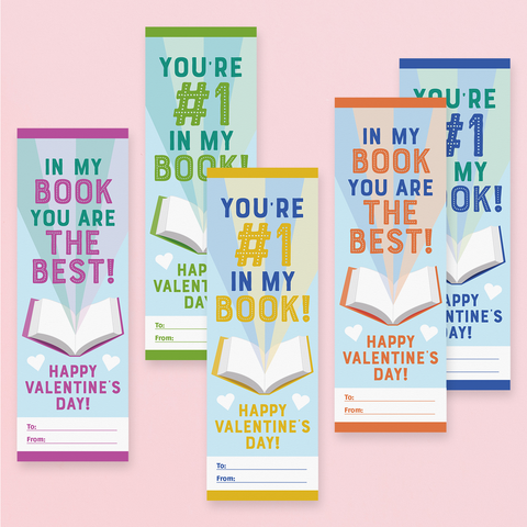 Printable Bookmark Valentine Cards for Kids