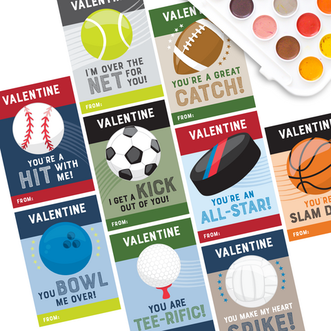 Sports Valentine Cards for Kids