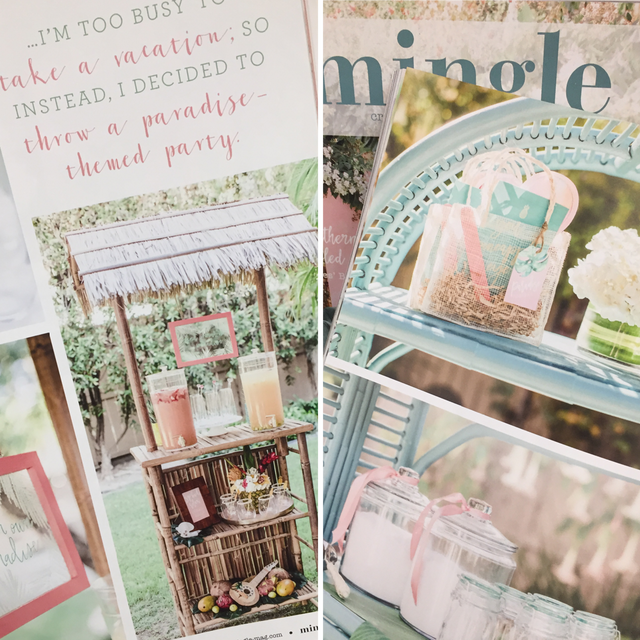 Tropical Bridal Shower Designs featured in Mingle Magazine