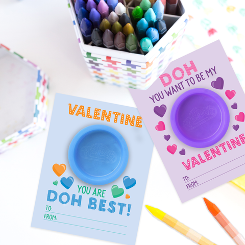 Printable Play Doh Valentine Cards for Kids