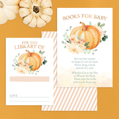 pumpkin books for baby insert cards