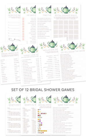 Tea Party Bridal Shower Games