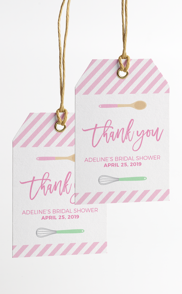 Baking Bridal Shower Thank You Tags