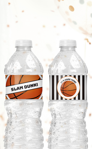 Printable Basketball Water Bottle Labels