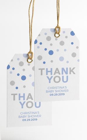 Blue and Silver Thank You Tags