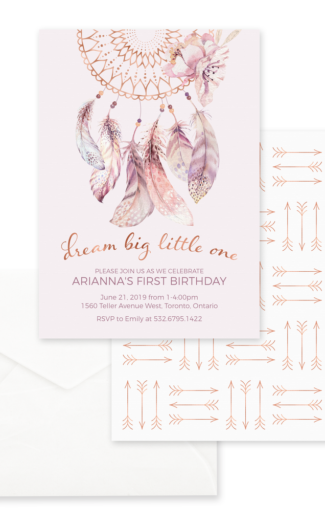 Boho Birthday Party Invitation