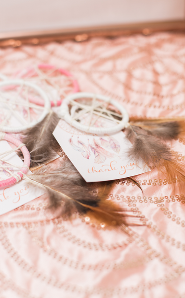 Boho Dreamcatcher Thank You Tags