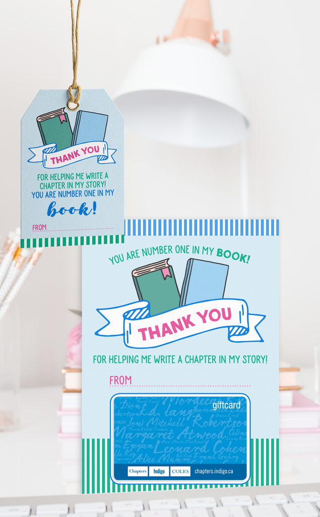 Book Lover Teacher Thank You Gift Card Holder and Gift Tags