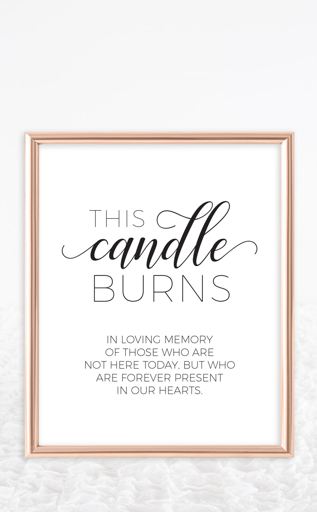 This is a picture of Crazy This Candle Burns in Loving Memory Free Printable