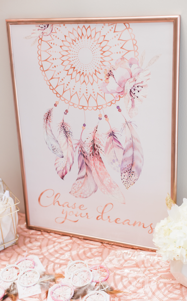Boho Chase Your Dreams Sign