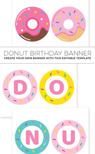 Donut Grow Up Birthday Banner