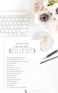 Find the Guest Bridal Shower Game