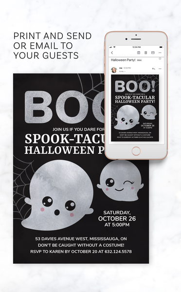 Ghost Halloween Party Invitation