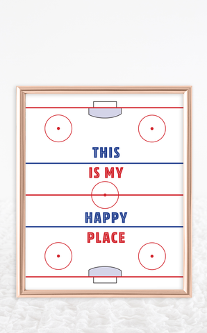 Hockey Poster - This is My Happy Place