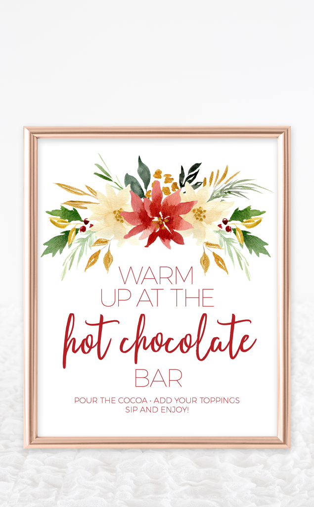 Christmas Hot Chocolate Bar Kit with Printable Sign and Labels for the Holidays