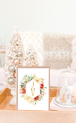 JOY Christmas Printable Art