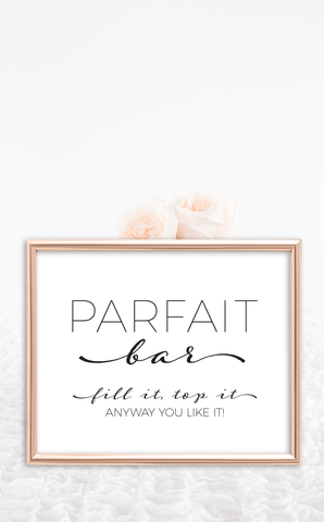 Printable Bridal Shower Parfait Bar Sign