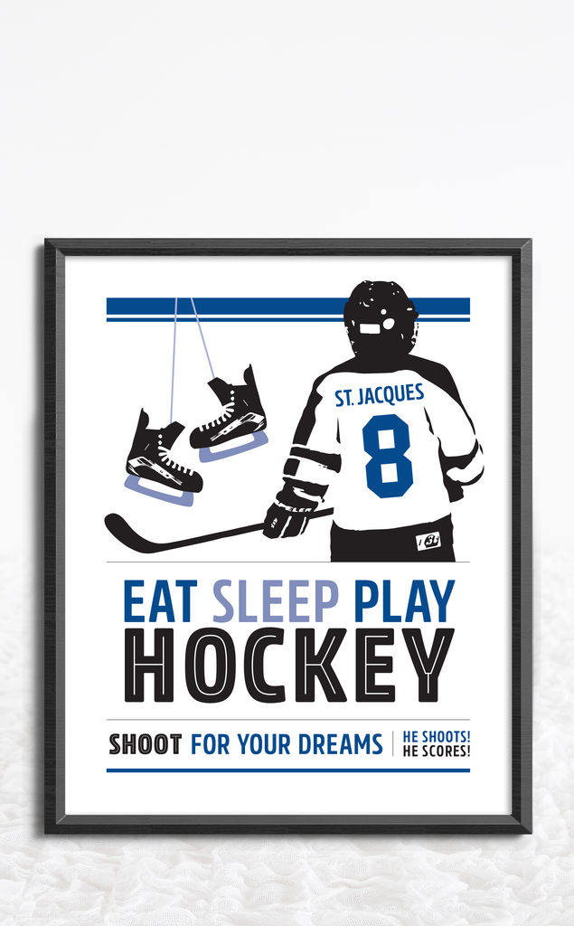 Personalized Hockey Poster