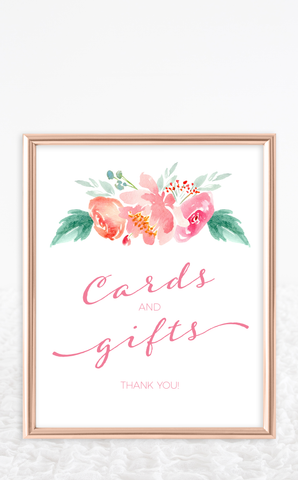 Floral Cards and Gifts Bridal Shower Sign