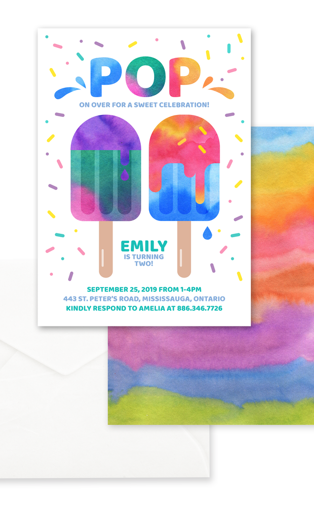 Popsicle Summer Birthday Party Invitation