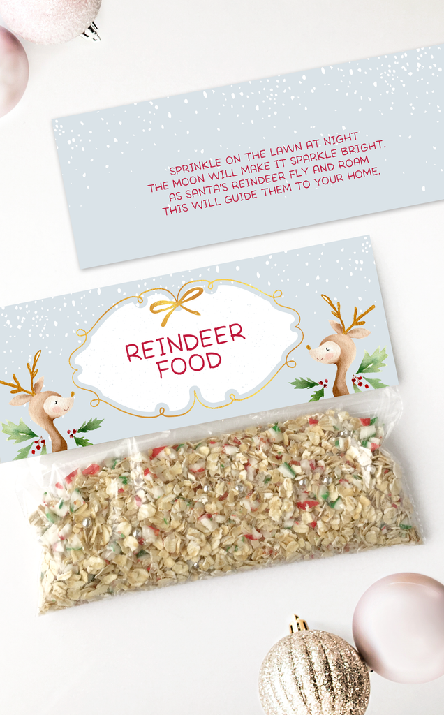 Reindeer Food Bag Topper