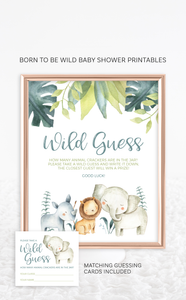 Take a Wild Guess Safari Animals Baby Shower Game
