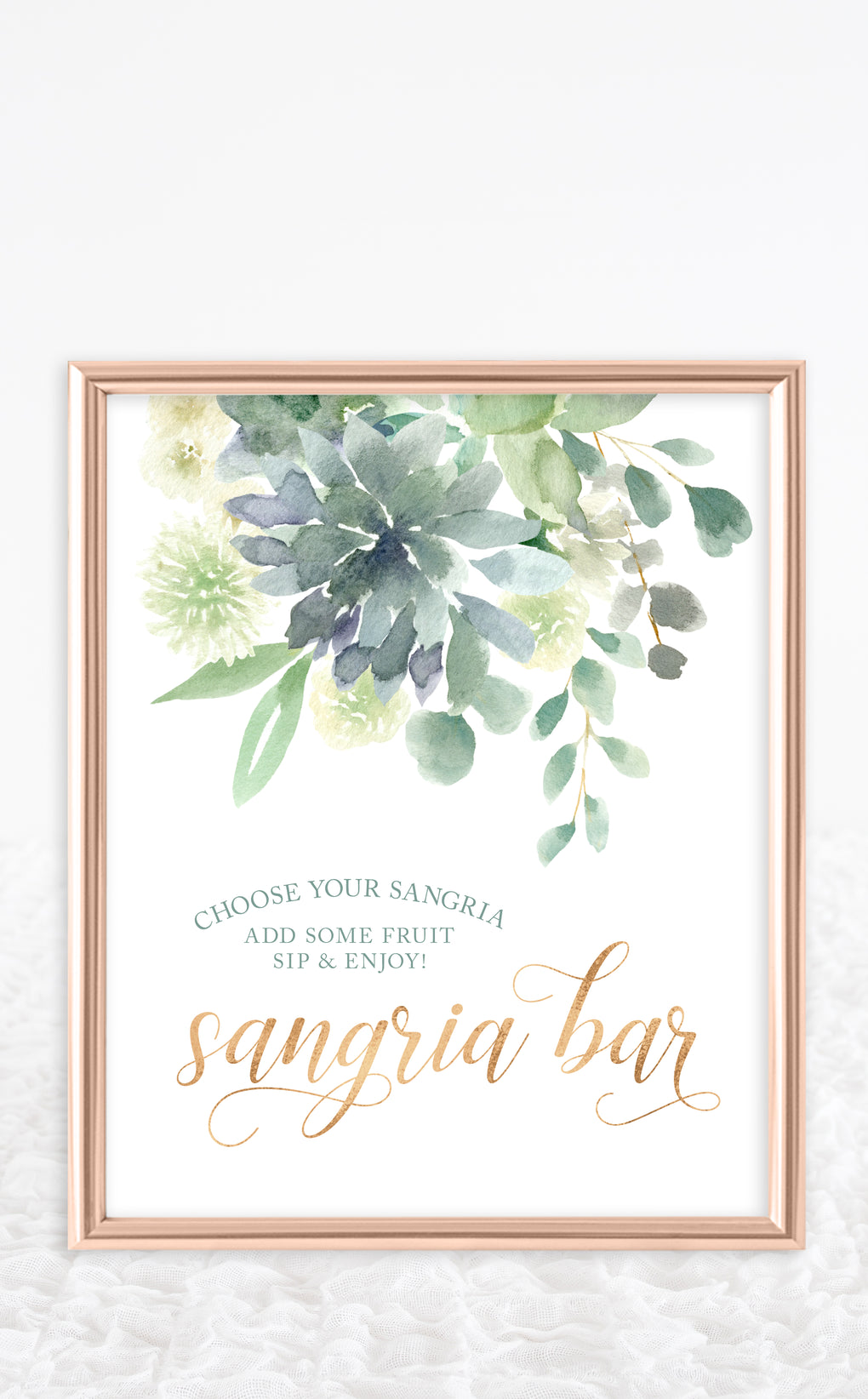 Succulent Sangria Bar Sign