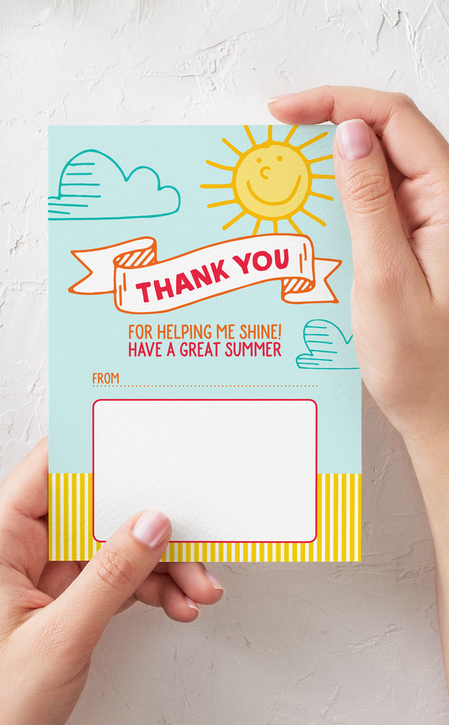 Shine Teacher Thank You Gift Card Holder and Gift Tags