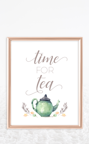 Time for Tea Bridal Shower Sign