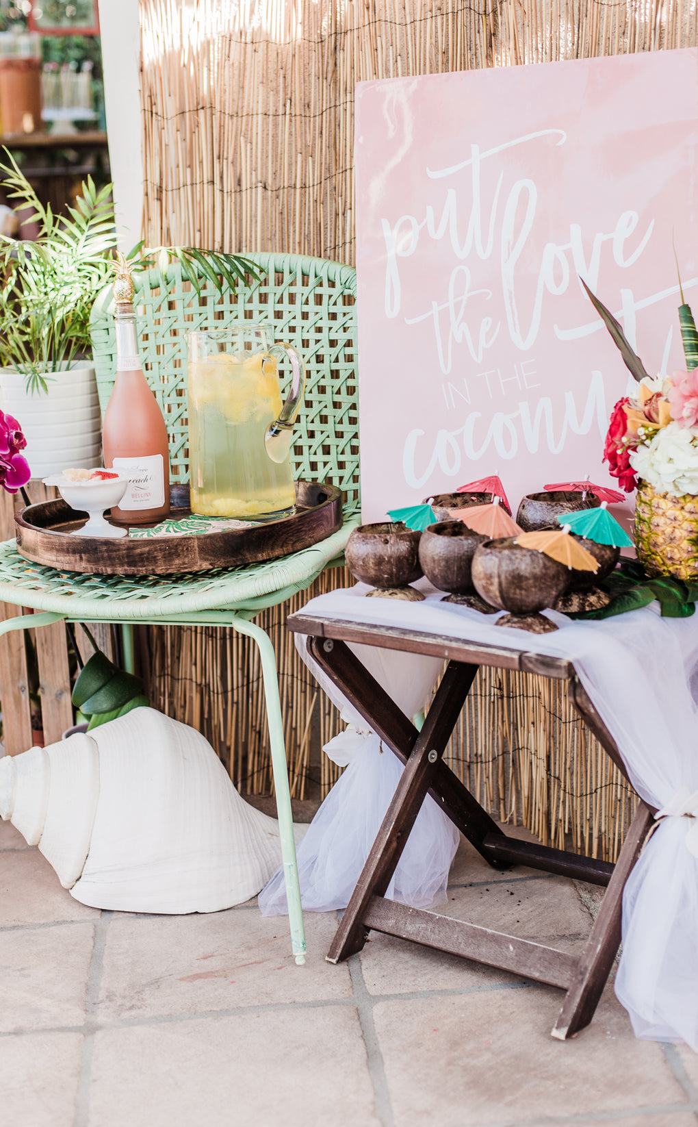 Tropical Paradise Bridal Shower Decoration