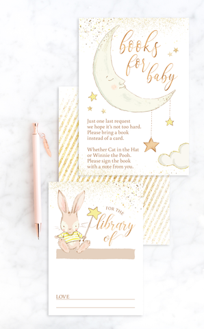 Twinkle Twinkle Little Star Books for Baby Invitation Insert Cards