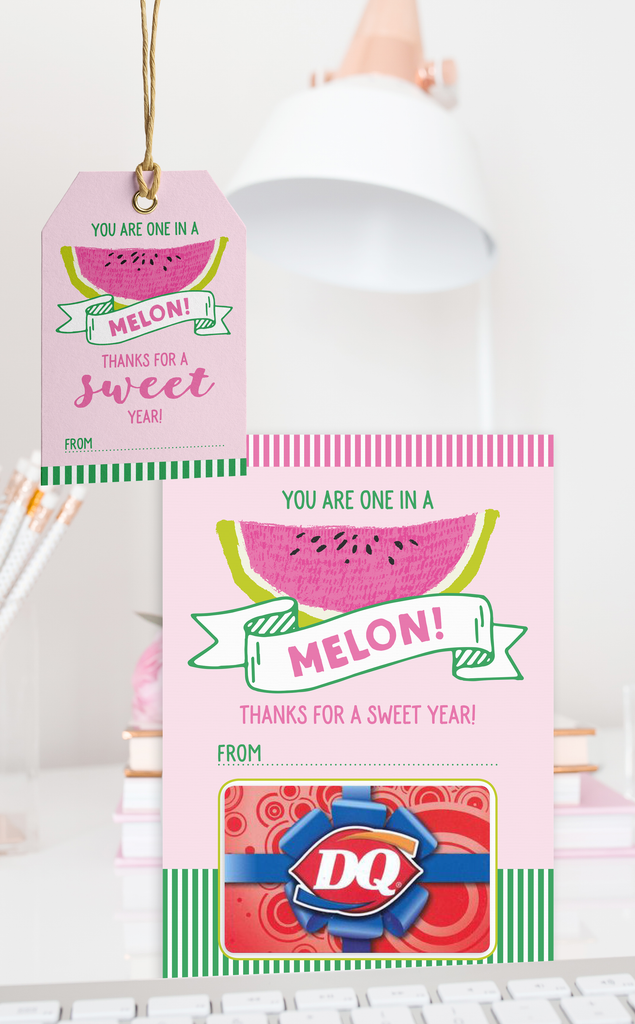 Melon Teacher Thank You Gift Card Holder and Gift Tags