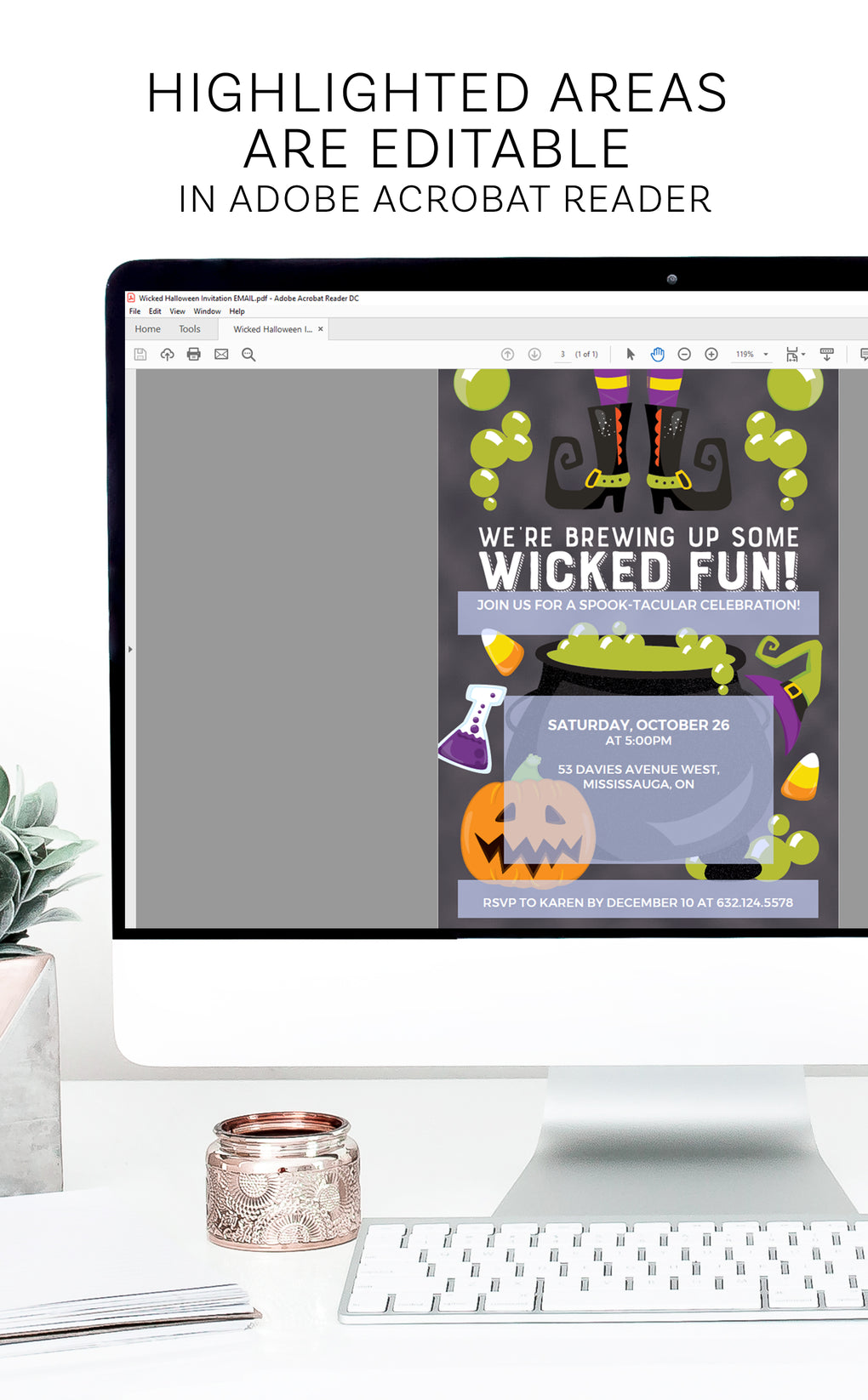 Wicked Fun! Halloween Party Invitation