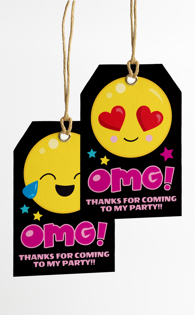 Emoji Party Thank You Tags