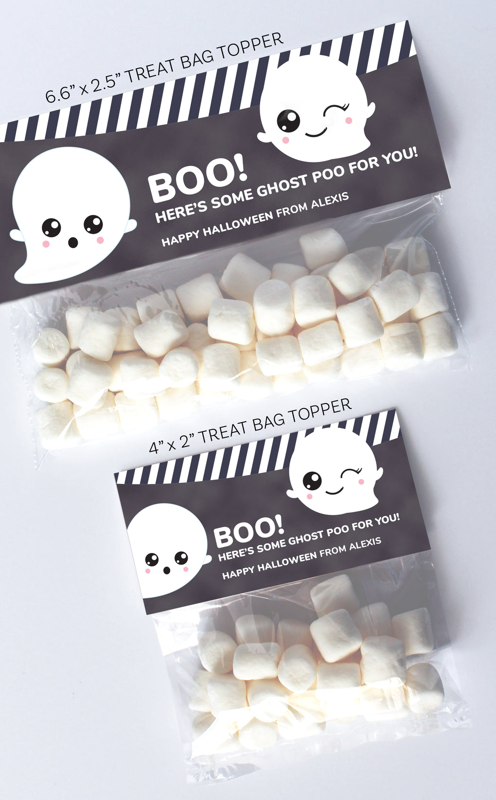 Halloween Ghost Treat Bag Topper