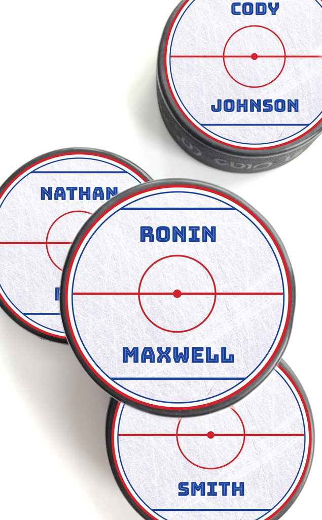 Personalized Hockey Puck Stickers