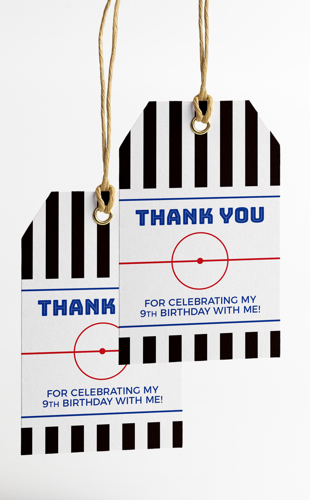 Hockey Thank You Tags