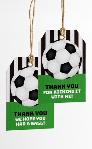 Printable Soccer Party Thank You Tags