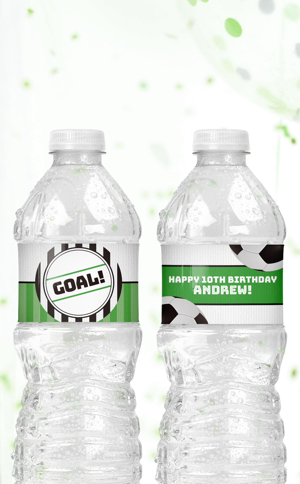 Soccer Water Bottle Labels