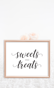 Sweets and Treats Dessert Table Wedding Sign