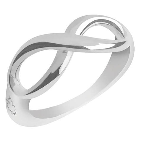 1001A - Birks Business Collection Silver Infinity Ring for Ladies