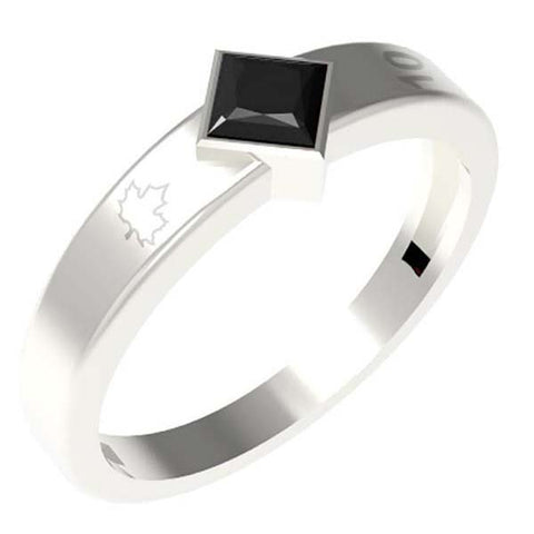 1002C - Birks Business Collection Sterling Silver Onyx Ring for Men