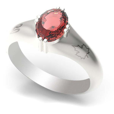 2001B - Birks Business Collection Sterling Silver Garnet Ring for Ladies