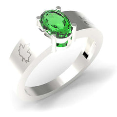 2501B - Birks Business Collection Sterling Silver and Green Quartz Ring for Ladies