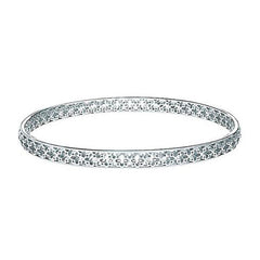 2505C - Birks Muse Sterling Silver Pierced Pattern Bangle
